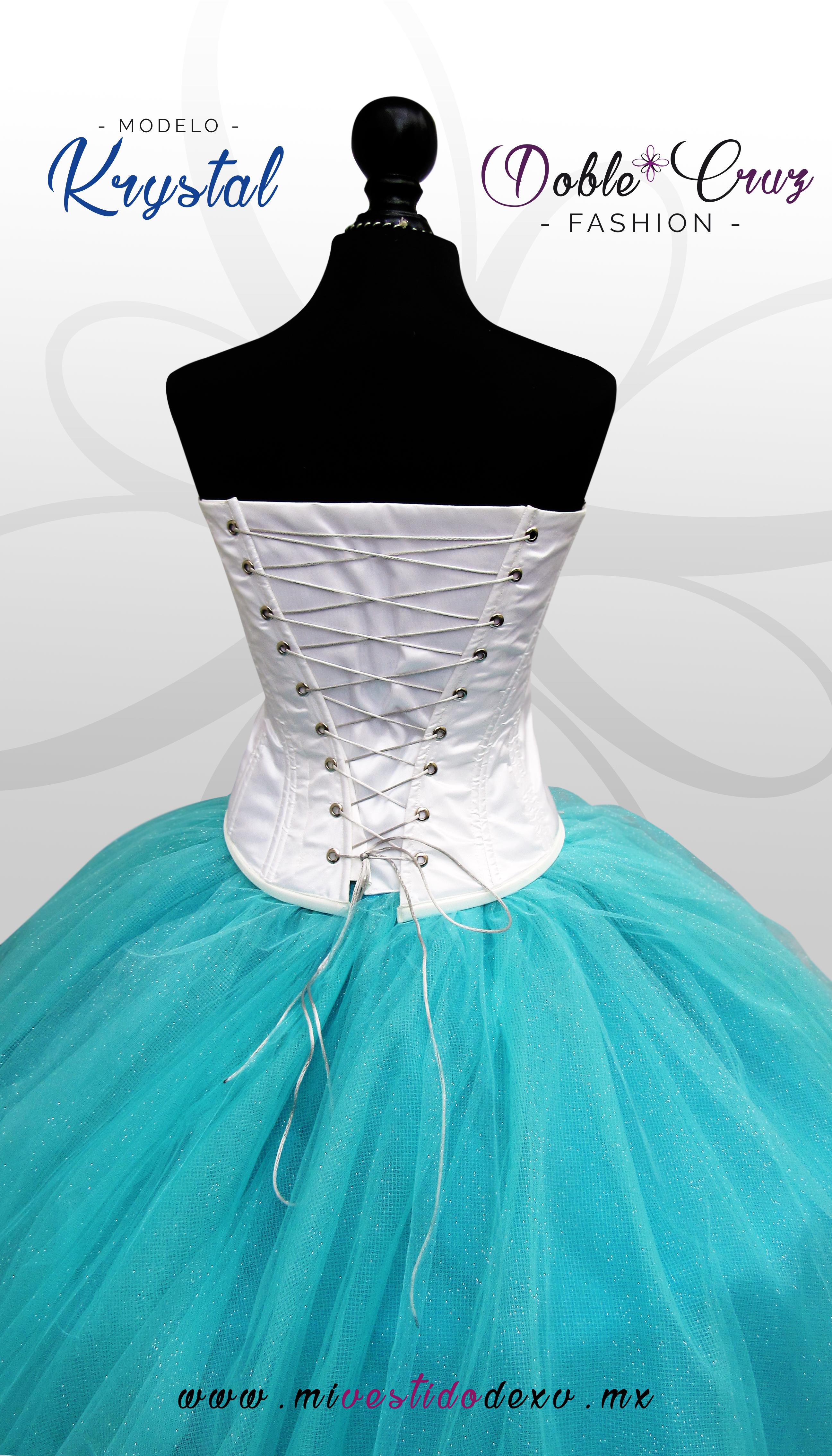 vestido de 15 años color azul