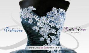 vestido de color azul para tus quinceaños en méxico centro