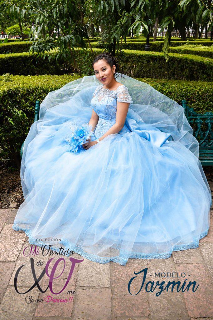 vestido de quinceañera bordado cdmx