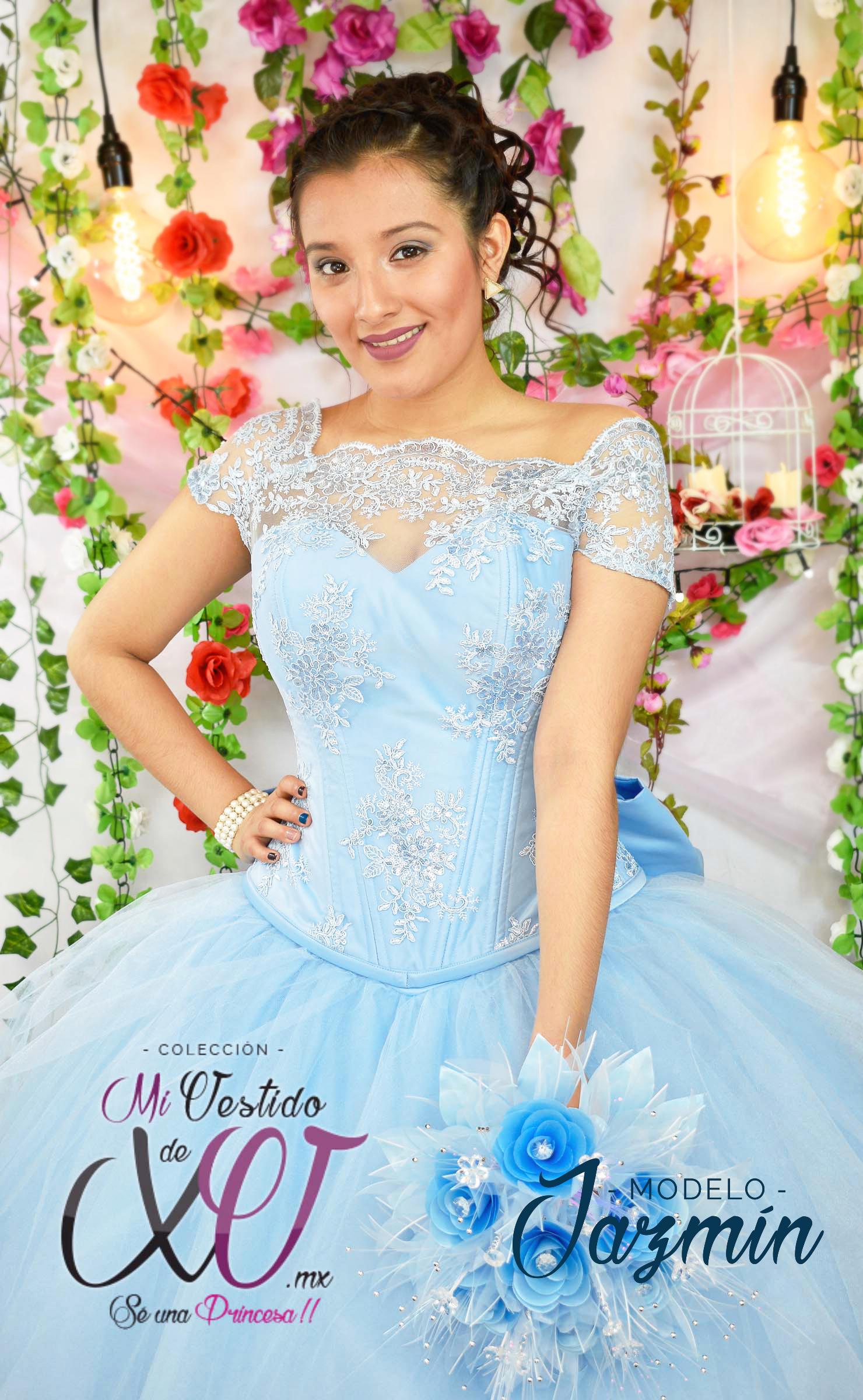 Maquillaje quinceanera vestido azul