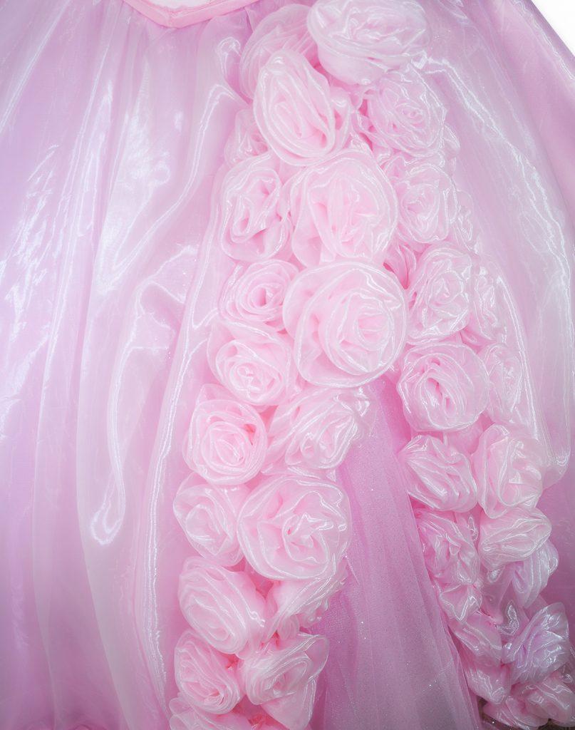 vestido de 15 años palo de rosas