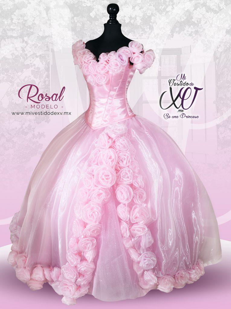 vestido de 15 años con rosas