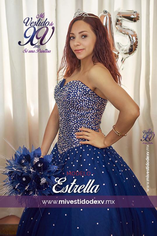 vestido de xv azul marino