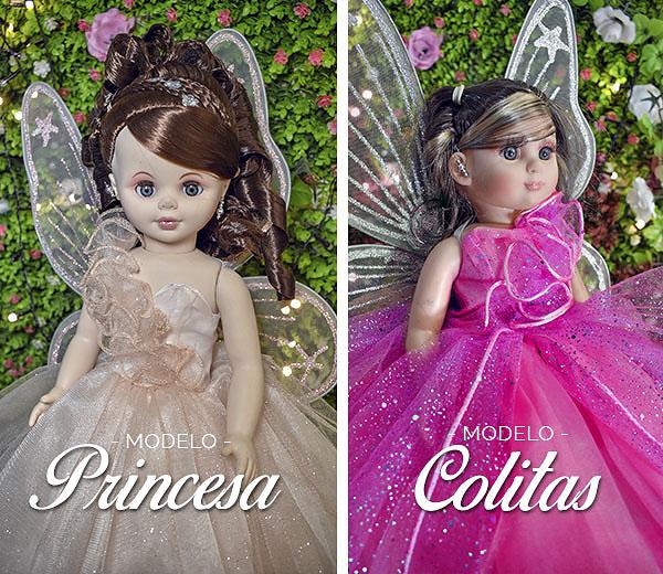 Dos muñecas vestidas de quince años